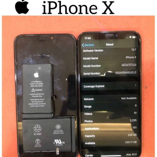 เครื่อง iPhone (ไอโฟน) X เปียกน้ำ ทำไงดี??