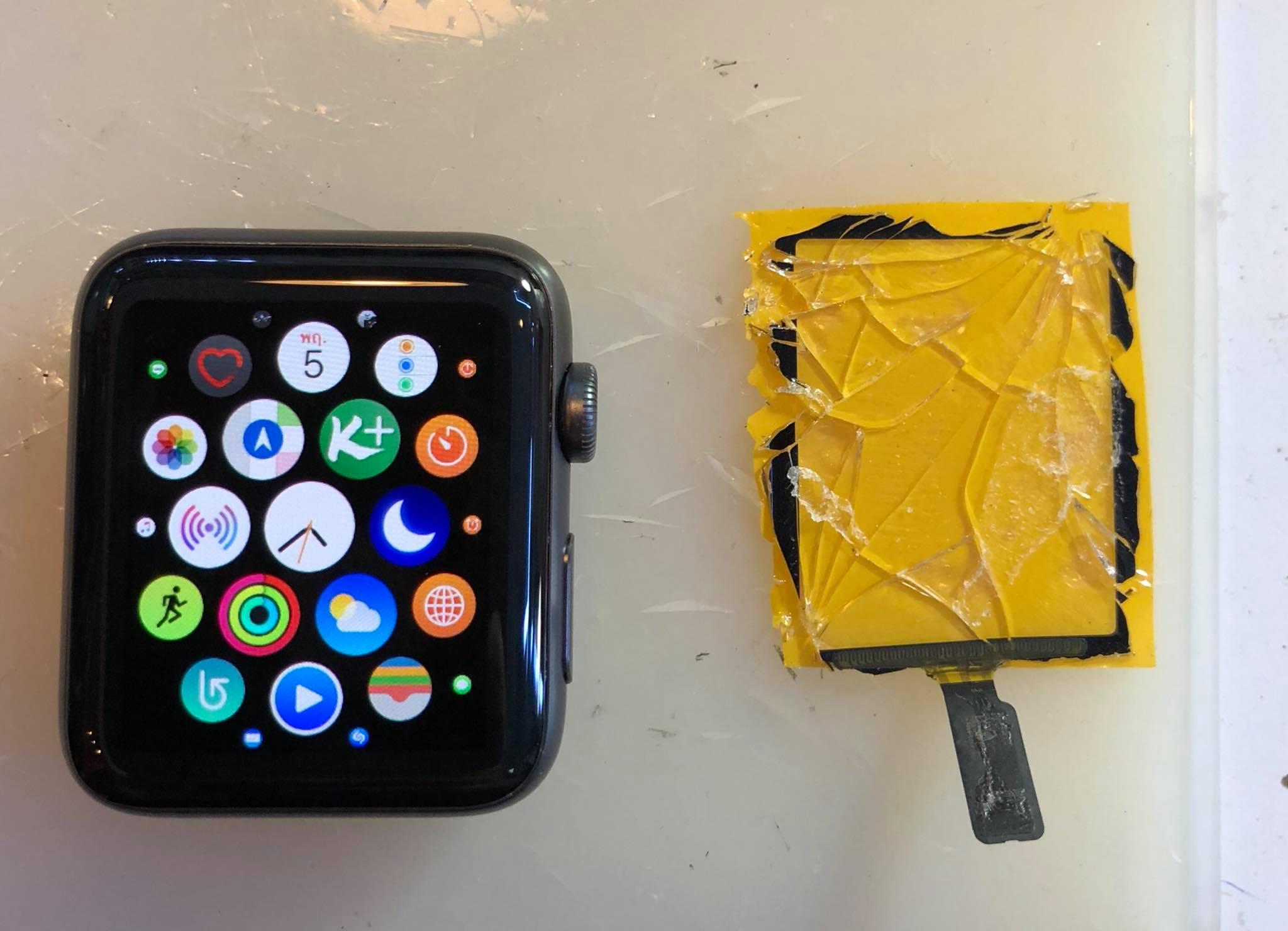 Apple Watch (แอปเปิ้ลวอช) series 5 จอแตก เปลี่ยนร้านไหนดี ไม่ต้องรอ