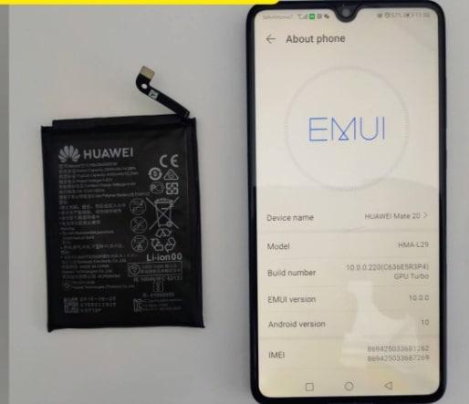 Huawei (หัวเว่ย) Mate 20  แบตบวม ส่งซ่อมร้านไหนดี ราคาถูก